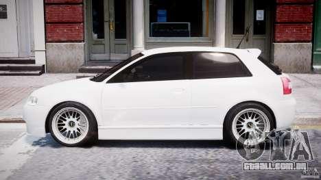 Audi A3 Tuning para GTA 4 traseira esquerda vista