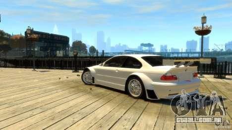 BMW E46 M3 GTR Sport para GTA 4 esquerda vista