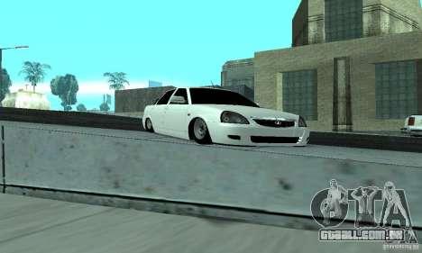 Lada Priora Low para GTA San Andreas vista interior