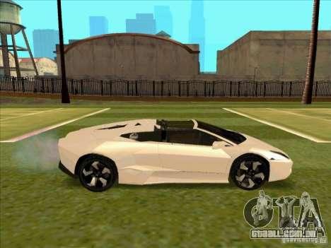 Lamborghini Reventon Convertible para GTA San Andreas vista traseira