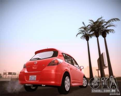 Nissan Versa Stock para GTA San Andreas traseira esquerda vista