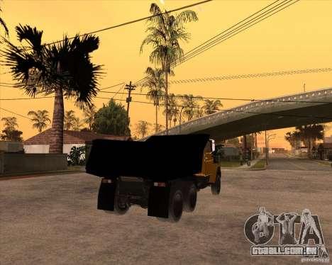 ZIL MMZ 4516 para GTA San Andreas traseira esquerda vista