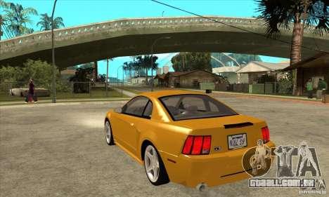 Ford Mustang GT 1999 - Stock para GTA San Andreas traseira esquerda vista