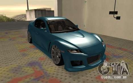 Mazda RX8 VIP para GTA San Andreas esquerda vista