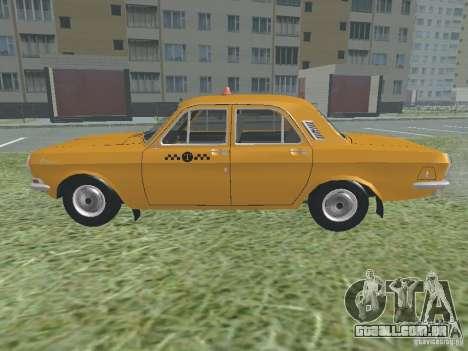 Táxi GAZ 24-01 para GTA San Andreas vista traseira