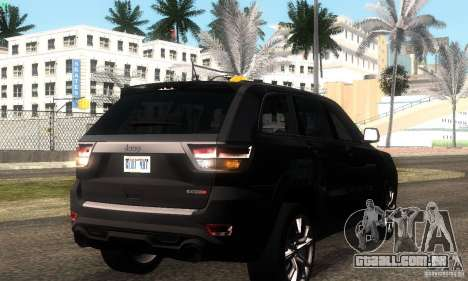 Jeep Grand Cherokee SRT8 para GTA San Andreas vista traseira