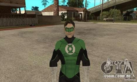 Green Lantern para GTA San Andreas segunda tela