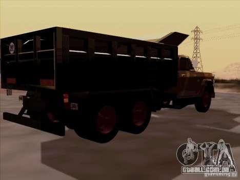 Dodge Dumper para GTA San Andreas traseira esquerda vista