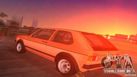 Volkswagen Golf Mk1 GTI para GTA Vice City deixou vista