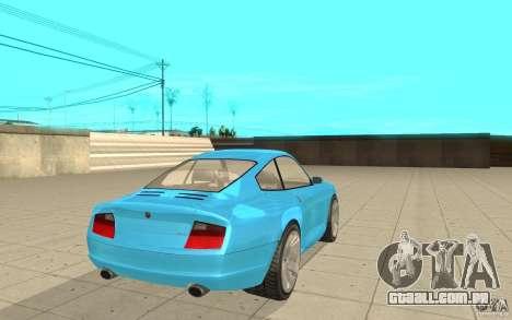 Cometa de GTA 4 para GTA San Andreas traseira esquerda vista