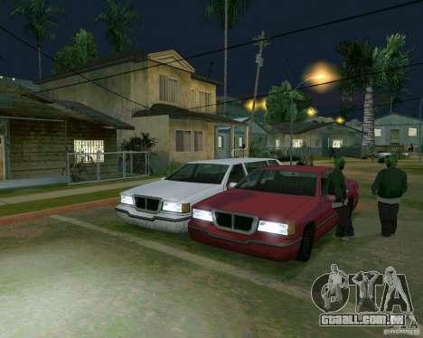 Elegant Limo para GTA San Andreas esquerda vista