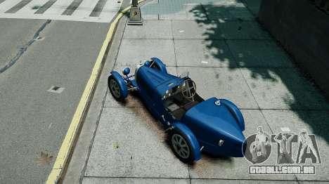 Bugatti Type 35C para GTA 4 vista de volta