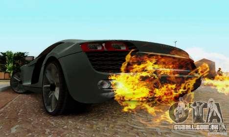 Audi R8 LeMans para GTA San Andreas traseira esquerda vista