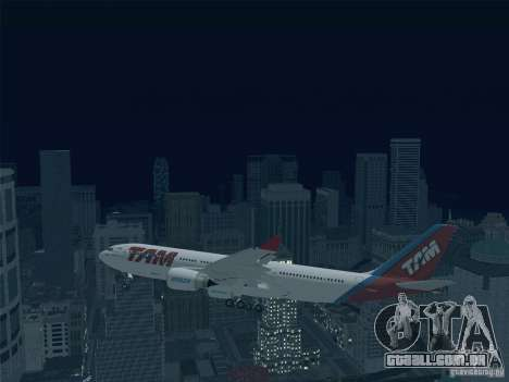 Airbus A330-223 TAM Airlines para GTA San Andreas vista superior