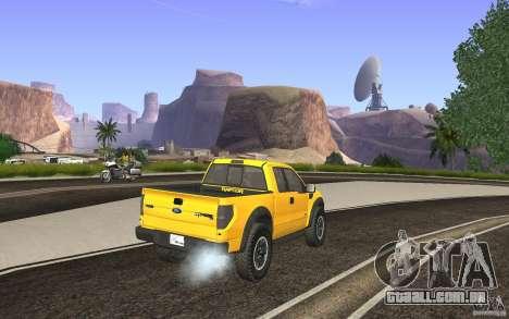 Ford F150 SVT RapTor para GTA San Andreas esquerda vista
