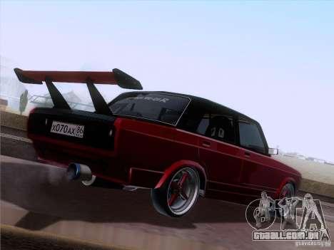 VAZ-2107 carro Tuning para GTA San Andreas vista direita