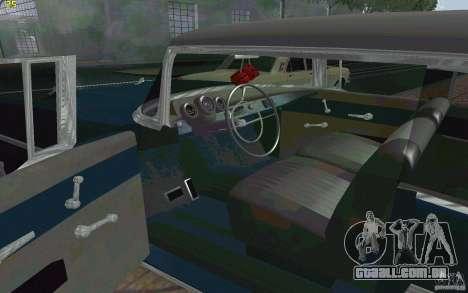 Chevrolet Bel Air 1957 para GTA San Andreas vista traseira