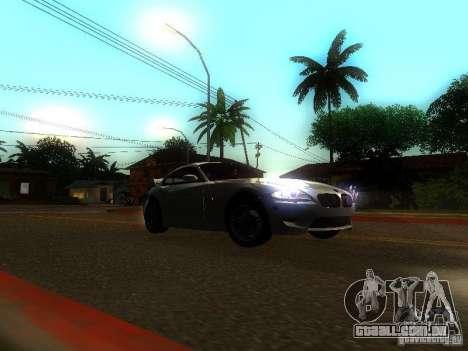 BMW Z4 M 07 para GTA San Andreas vista traseira