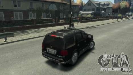 Lincoln Navigator para GTA 4 traseira esquerda vista