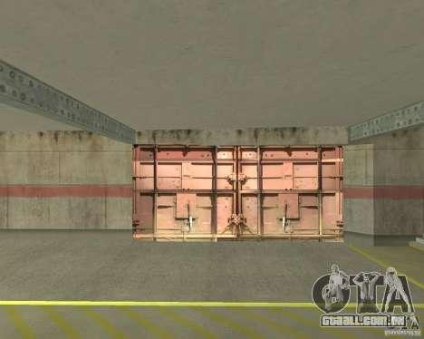 Portão pneumático na área 69 para GTA San Andreas terceira tela