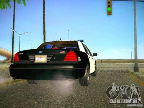 Ford Crown Victoria Police Intercopter para GTA San Andreas vista direita