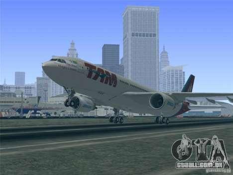 Airbus A330-223 TAM Airlines para o motor de GTA San Andreas