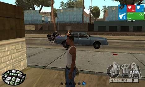 Windows 8 HUD para GTA San Andreas terceira tela
