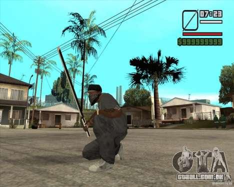 Sasuke sword para GTA San Andreas segunda tela