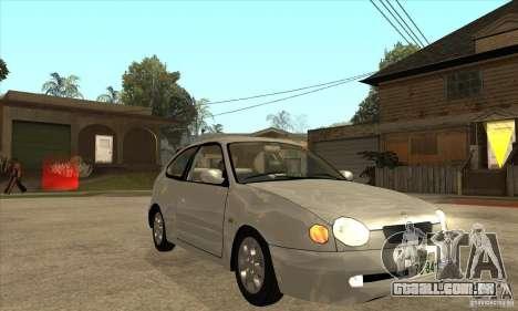 Toyota Corolla G6 Compact E110 JP para GTA San Andreas vista traseira