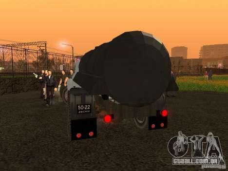 GAZ 53 Flusher para GTA San Andreas traseira esquerda vista