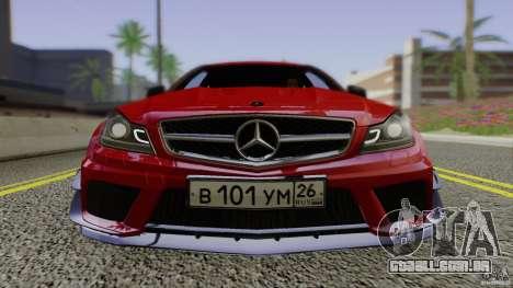 Mercedes Benz C63 AMG Black Series 2012 para GTA San Andreas vista traseira