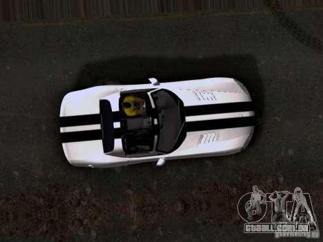 Dodge Viper SRT-10 Custom para GTA San Andreas vista traseira