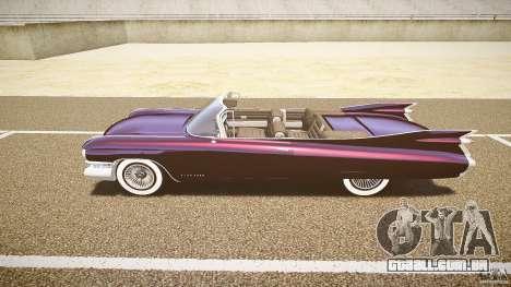 Cadillac Eldorado 1959 interior black para GTA 4 traseira esquerda vista