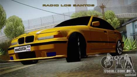 BMW M3 Z366 para GTA San Andreas traseira esquerda vista