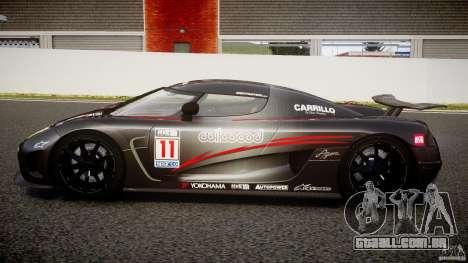 Koenigsegg Agera v1.0 [EPM] para GTA 4 esquerda vista
