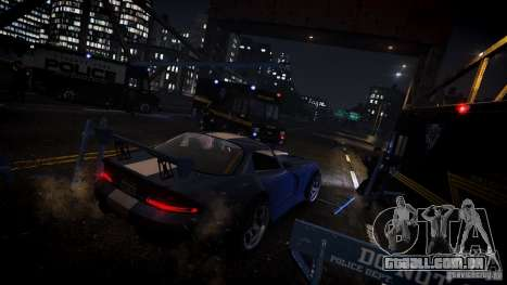 Boxville Police para GTA 4 vista de volta