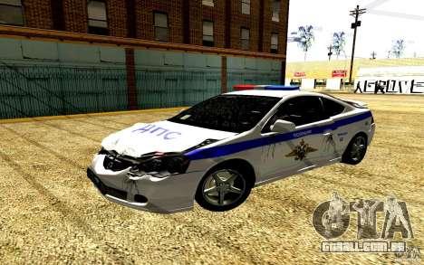 Acura RSX-S polícia para vista lateral GTA San Andreas