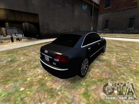 Audi A8L W12 para GTA 4 vista de volta