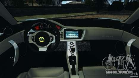 Lotus Evora 2009 v1.0 para GTA 4 vista de volta
