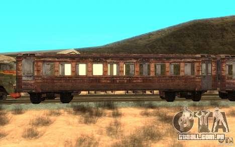 Um trem do jogo STALKER para GTA San Andreas esquerda vista