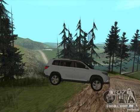 Toyota Highlander para GTA San Andreas vista traseira