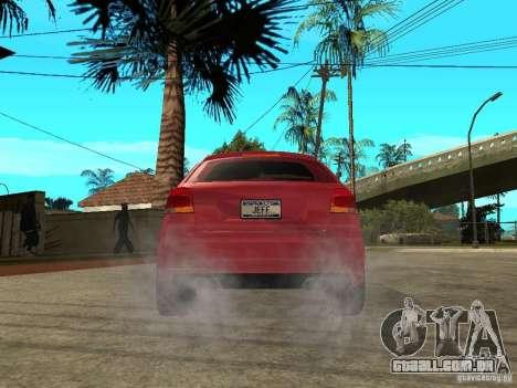Audi S3 2006 Juiced 2 para GTA San Andreas traseira esquerda vista