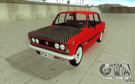 Fiat 125p para GTA San Andreas vista superior