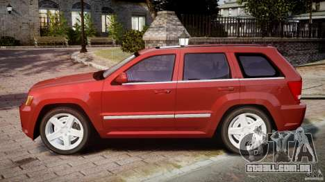 Jeep Grand Cherokee para GTA 4 esquerda vista