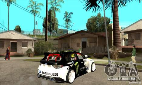 Subaru Impreza 2009 (Ken Block) para GTA San Andreas vista direita