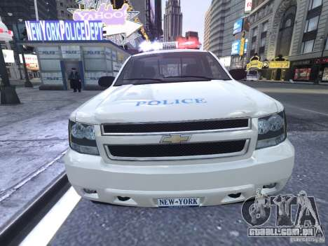 Chevrolet Tahoe Homeland Security para GTA 4 vista interior