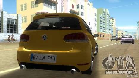 Volkswagen Golf 6 GTI para GTA Vice City vista traseira esquerda