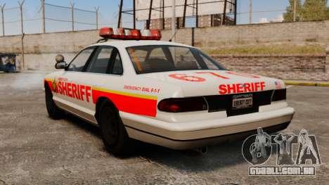 Uma nova viatura policial para GTA 4 traseira esquerda vista