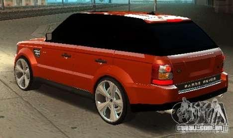 RANGE ROVER SPORT v 2.0 para GTA San Andreas esquerda vista