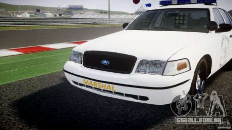 Ford Crown Victoria US Marshal [ELS] para GTA 4 vista superior